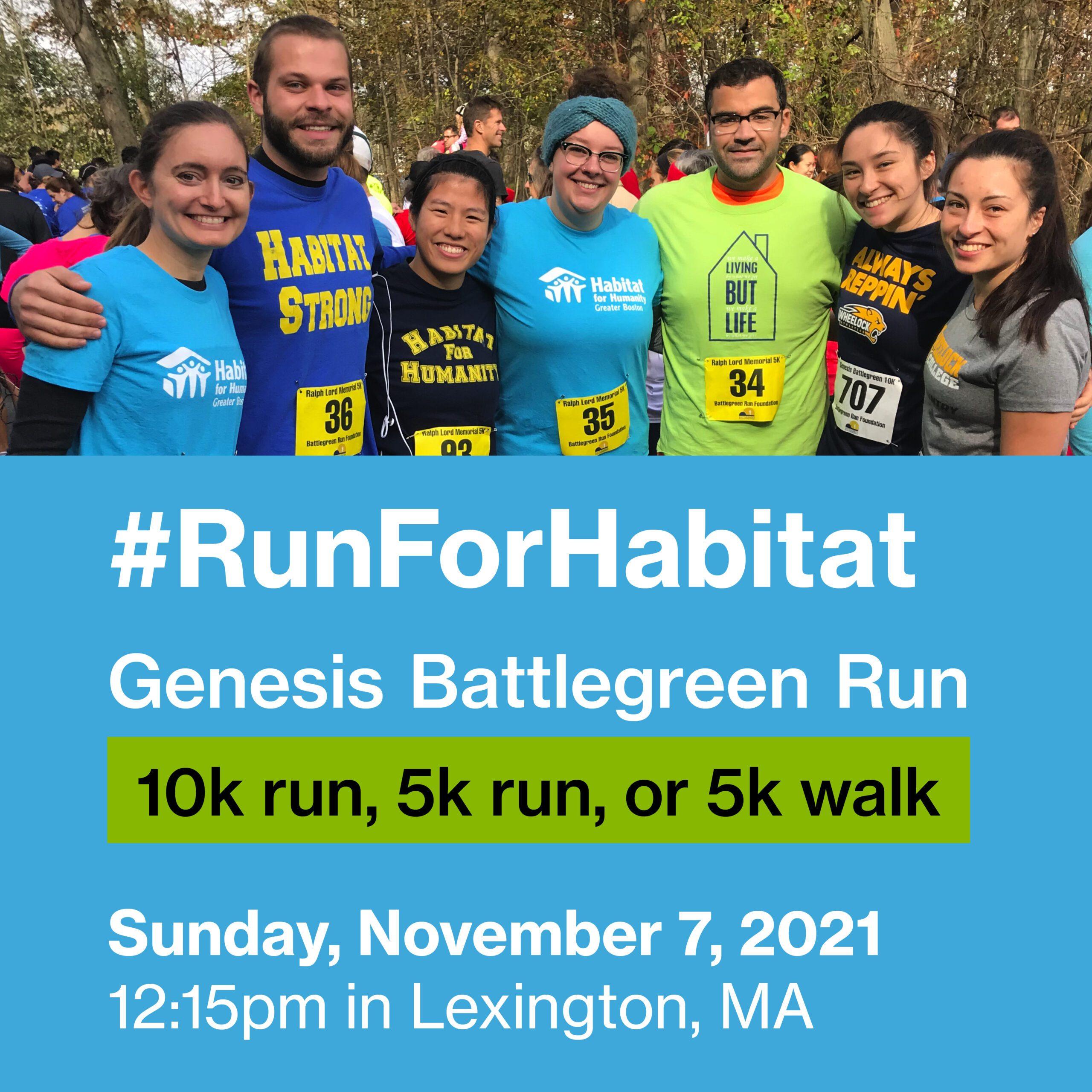 Run For Habitat 2021 Battlegreen Run